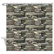 Rock Wall Pattern Shower Curtain