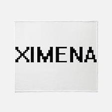 Ximena Digital Name Throw Blanket