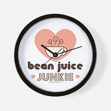 Bean Juice Java Junkie Coffee Lovers Wall Clock