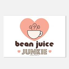 Bean Juice Java Junkie Coffee Lover Postcards 8 Pk