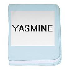 Yasmine Digital Name baby blanket