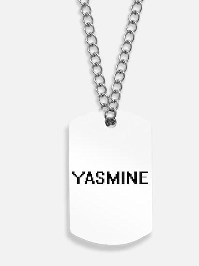 Yasmine Digital Name Dog Tags