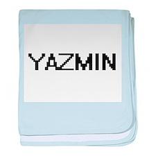 Yazmin Digital Name baby blanket