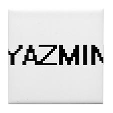Yazmin Digital Name Tile Coaster