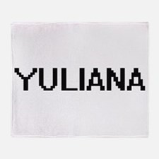 Yuliana Digital Name Throw Blanket