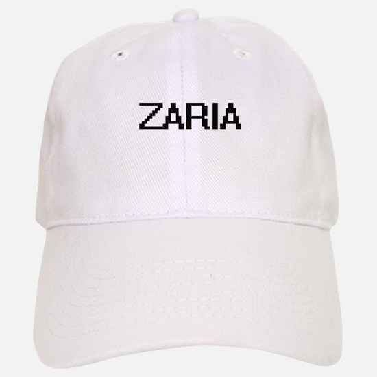 Zaria Digital Name Baseball Baseball Cap