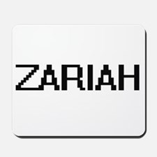 Zariah Digital Name Mousepad