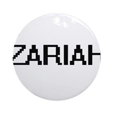 Zariah Digital Name Ornament (Round)