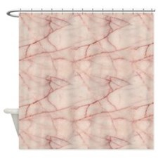 Pink Marble Pattern Shower Curtain