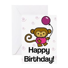 Happy Birthday Monkey Greeting Card