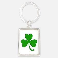 3 Leaf Kelly Green Shamrock with Stem Keychains