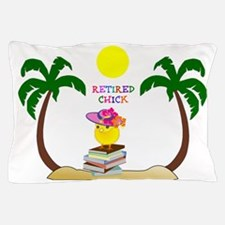 Retired Chick, tropical paradise Pillow Case
