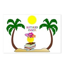 Retired Chick, tropical p Postcards (Package of 8)