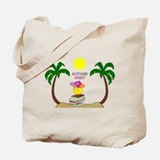 Retired Chick, tropical paradise Tote Bag