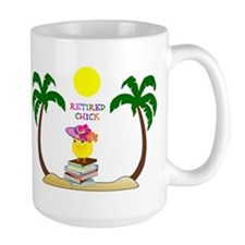 Retired Chick, tropical paradise Mug