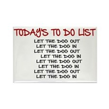 TODAY'S TO DO LIST Rectangle Magnet