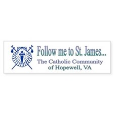 Follow me to St. James Bumper Bumper Sticker