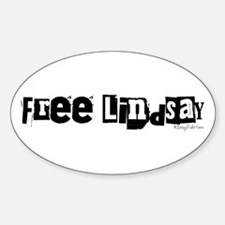 Free Lindsay #2 Oval Decal