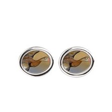 Black-Bellied Whistling Duck Oval Cufflinks