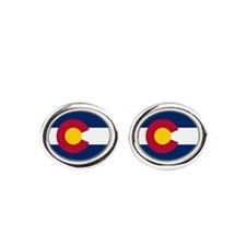 Colorado Flag Oval Cufflinks