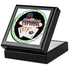 Las Vegas Welcome Sign Poker Chip Keepsake Box