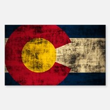 Grunge Colorado Flag Decal
