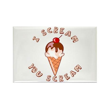 I Scream - You Scream Ice Cream Rectangle Magnet (