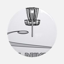 Disc Golf Deuce Ornament (Round)
