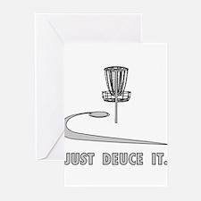 Disc Golf Deuce Greeting Cards