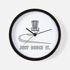 Disc Golf Deuce Wall Clock