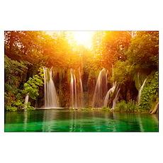 Beautiful Waterfalls Poster
