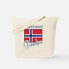 World's Greatest Norwegian Grandpa Tote Bag