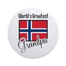 World's Greatest Norwegian Grandpa Ornament (Round