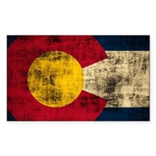 Vintage Grunge Colorado Flag Decal