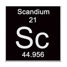 21. Scandium Tile Coaster