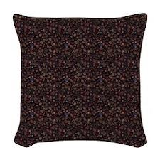 Java Beans Pattern Woven Throw Pillow