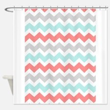 Funny Aqua and pink Shower Curtain