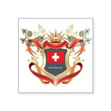 "Cute Switzerland pride Square Sticker 3"" x 3"""