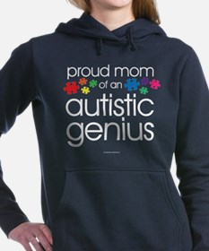 Proud Mom Autistic Geniu Women's Hooded Sweatshirt