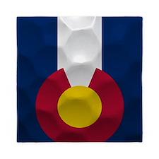 Colorado Flag Golf Ball Queen Duvet