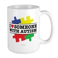Heart Someone With Autism Mugs