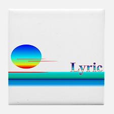 Lyric Tile Coaster