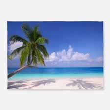 Tropical Beach 5'x7'Area Rug