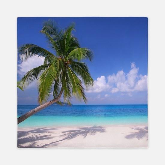Tropical Beach Queen Duvet