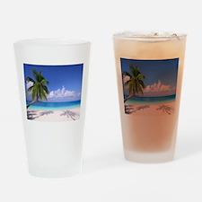 Tropical Beach Drinking Glass