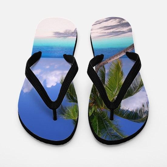 Tropical Beach Flip Flops