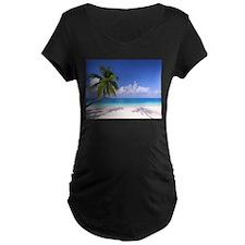 Tropical Beach Maternity T-Shirt