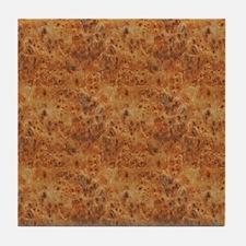 Burlwood Pattern Tile Coaster