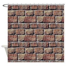 Brick Wall Pattern Shower Curtain