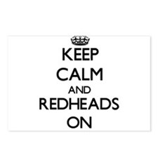 Keep Calm and Redheads ON Postcards (Package of 8)